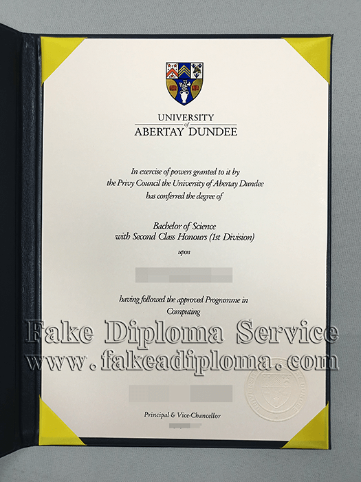 fake University of Abertay Dundee diplomas
