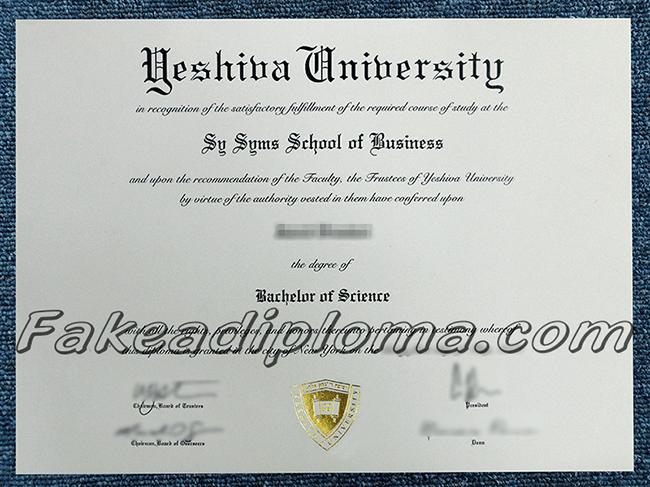 fake Yeshiva University Diploma certificates