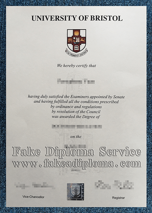 Fake University of Bristol Diploma