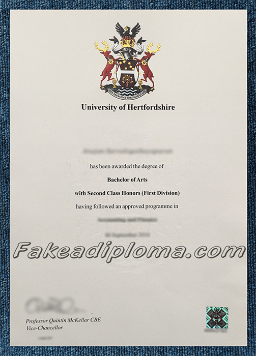 Fake University of Hertfordshire Diploma