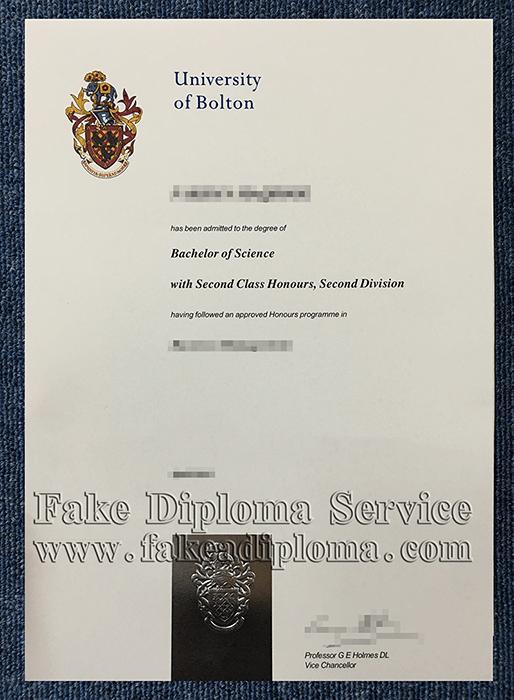 fake University of Bolton diplomas