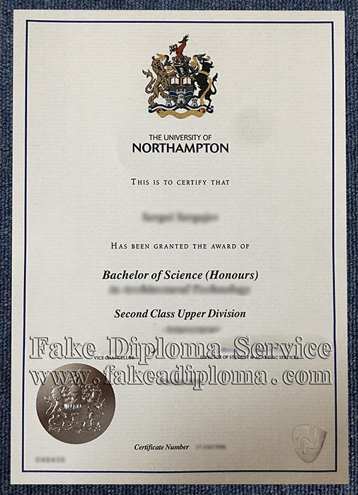 Fake University of Northampton Diploma