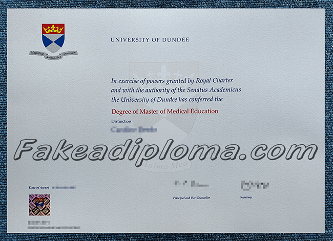 fake UoD diploma certificates, fake University of Dundee degree,
