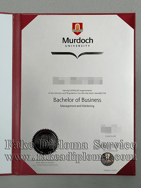 Fake Murdoch University Degree Certificate