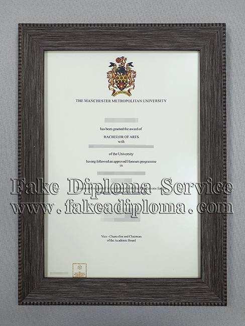 Manchester Metropolitan University Diploma, Fake MMU Degree