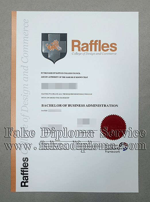 Fake Raffles college of design and commerce Degree