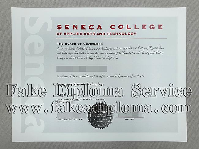 Fake Seneca College Diplomas, Fake Seneca College Degree.