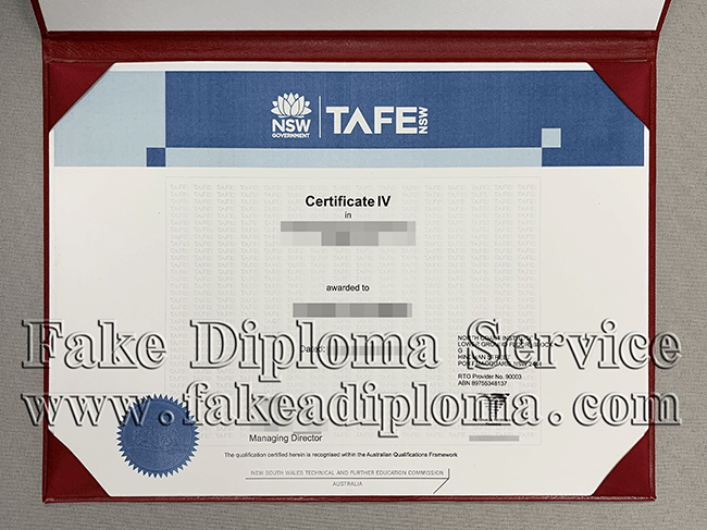 Fake TAFE NSW Certificate