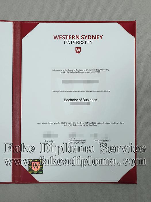 Fake Western Sydney University Diploma