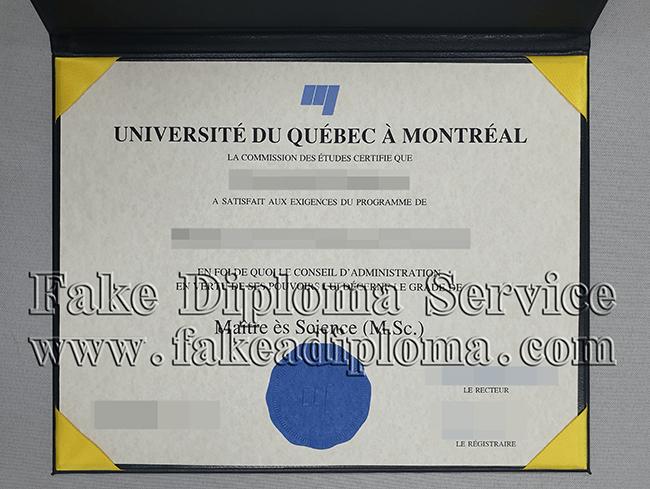 Faux diplôme de l'Université du Québec à Montréal, Fake University of Quebec in Montreal diploma