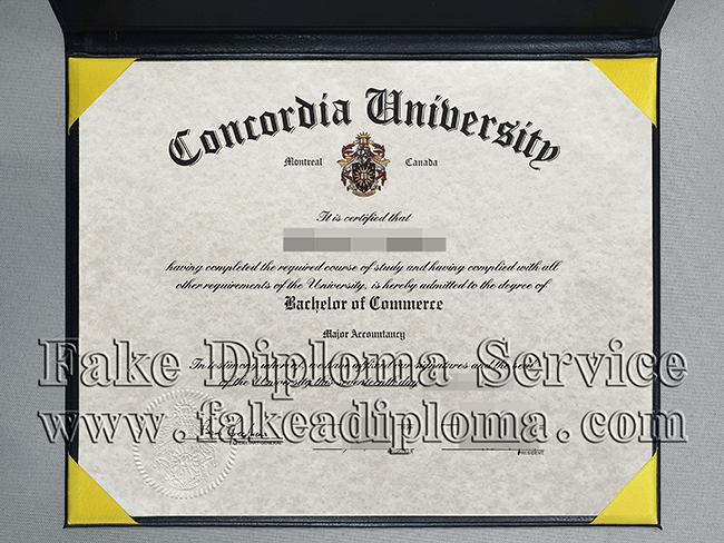 fake Concordia University Diploma, Fake Concordia Degree