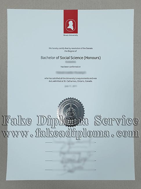 Fake Brock University Diploma