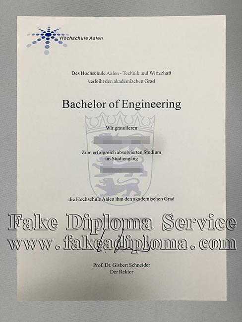 Fake Hochschule Aalen Diploma