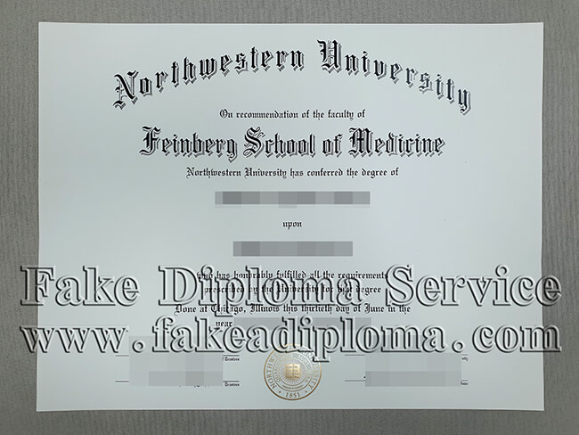 Northwestern University fake Diploma, fake NU degree