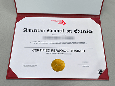 You Want Copy An American Council on Exercise Certificate Online?