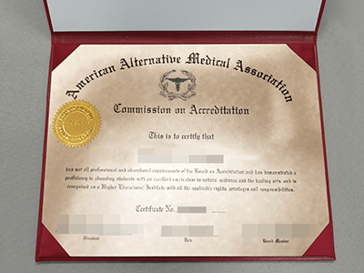 Copy American Alternative Medical Assoriation Certificate Online