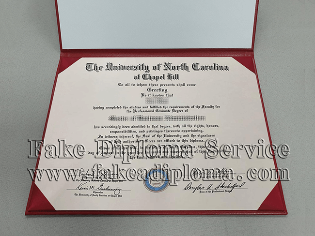 University of North Carolina at Chapel Hill Diploma