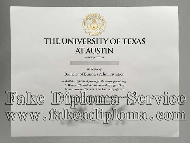 University of Texas At Austin fake Diploma