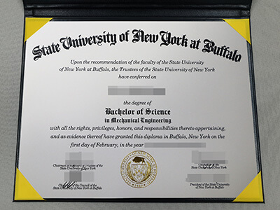 Copy A State University of New York at Buffalo Fake Diploma