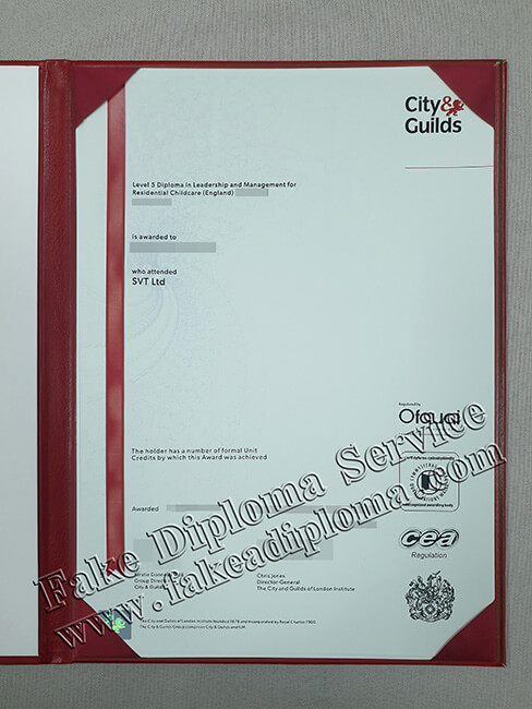 City & Guilds Certificate Level 5 Fake Diploma