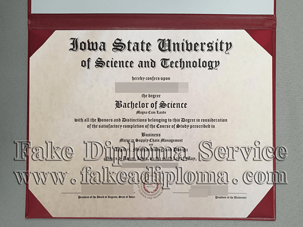 Iowa State University fake diploma