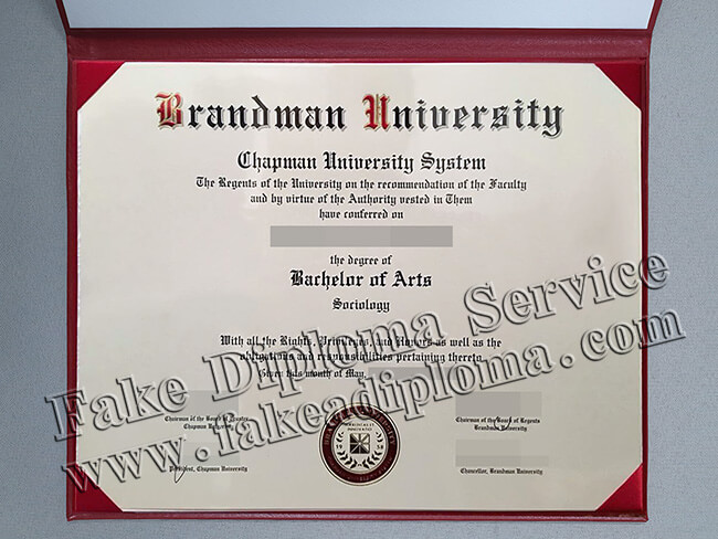 Brandeis University Fake Diploma