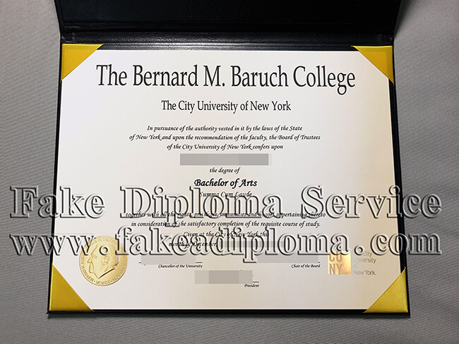 Puchase A Bernard M.Baruch College Degree Online