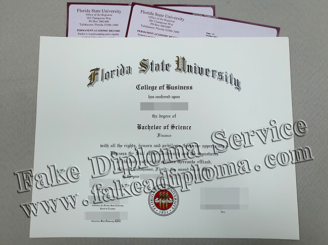 Copy A Florida State University Original Diploma(FSU Transcript)