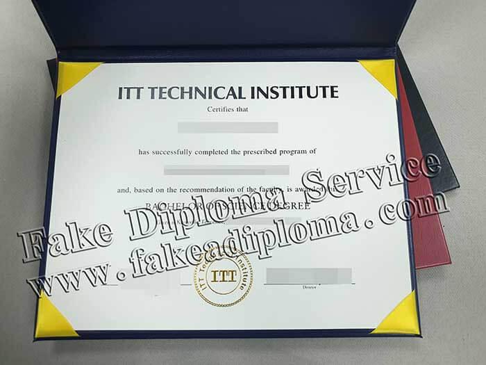 Purchase ITT Technical Institute Certificates Online. Get ITT certificate.