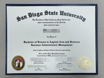 Fake SDSU Degree, Customize a San Diego State University Fake Diploma Online