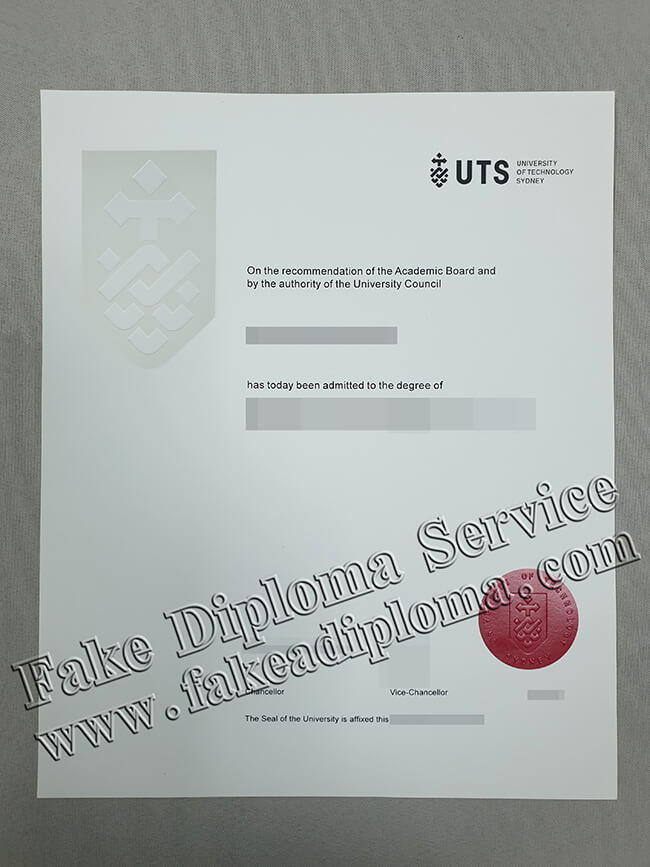 UTS Degree, Sydney University of Technology Diploma