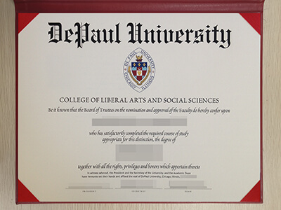 Printing DePaul University Fake Diploma, Copy DPU Fake Degree, US Diploma