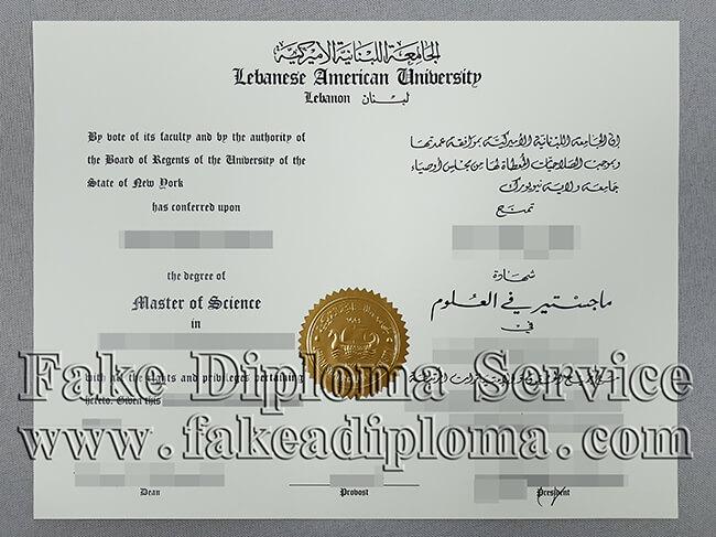 Lebanese American University Fake Diploma