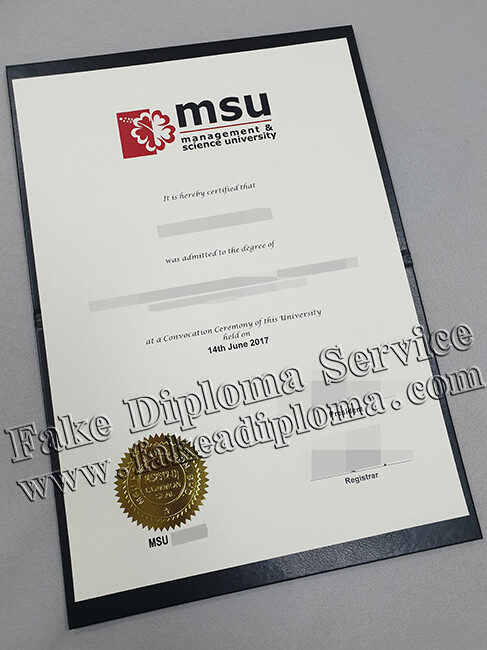 MSU Degree, Management and Science University Diploma Certificate