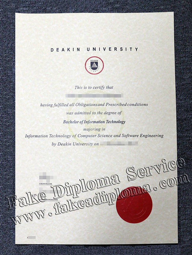 Fake Deakin University Degree