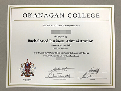 Copy A Okanagan College Diploma Online, Print Okanagan College Degrees