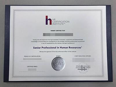 Copy A HR Certification Institute certificate Online