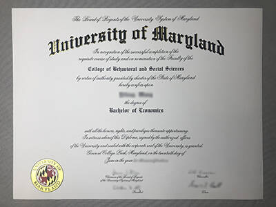 Copy A University of Maryland Fake Degree Online(UMD Diploma)