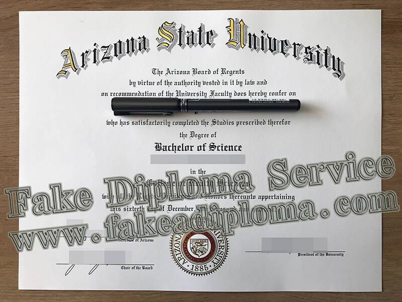 Arizona State University Fake Degree