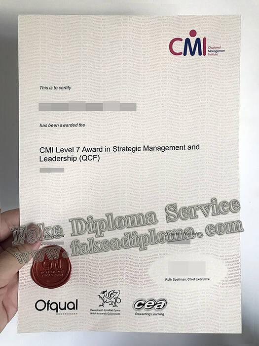 Fake CMI Level 7 Certificate