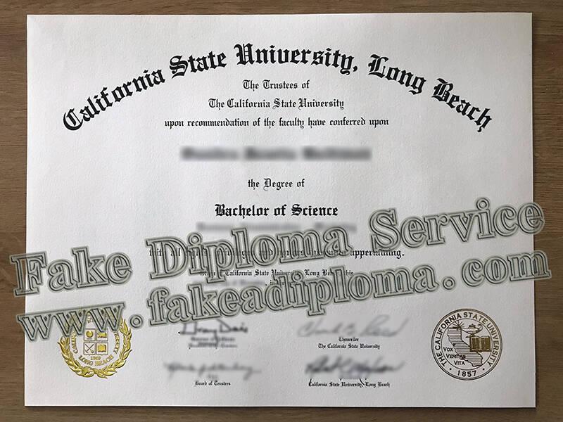 Fake Degree, California State University – Long Beach Fake Diploma