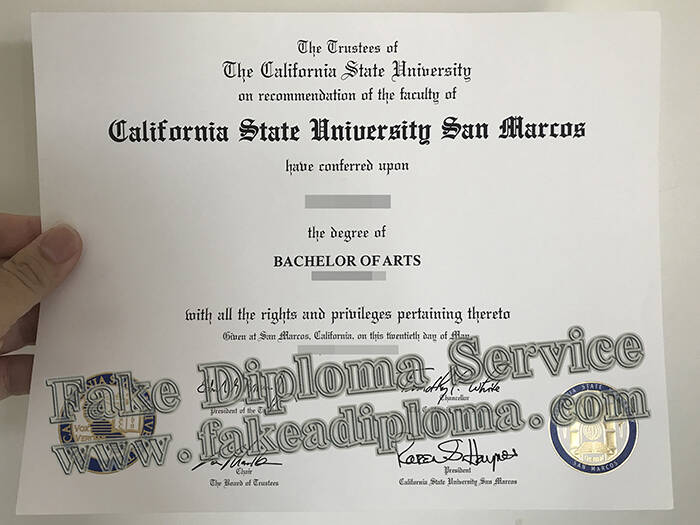 fake California State University-San Marcos Degree
