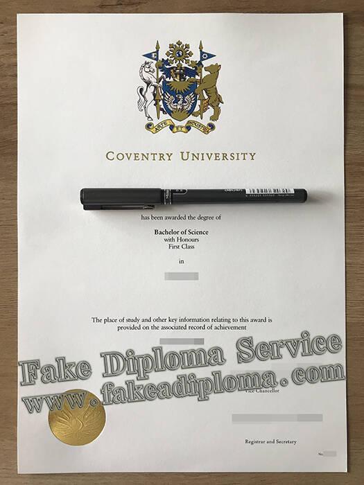 Fake Coventry University Diploma