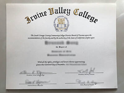 Fake Irvine Valley College Degree, How to Buy it?