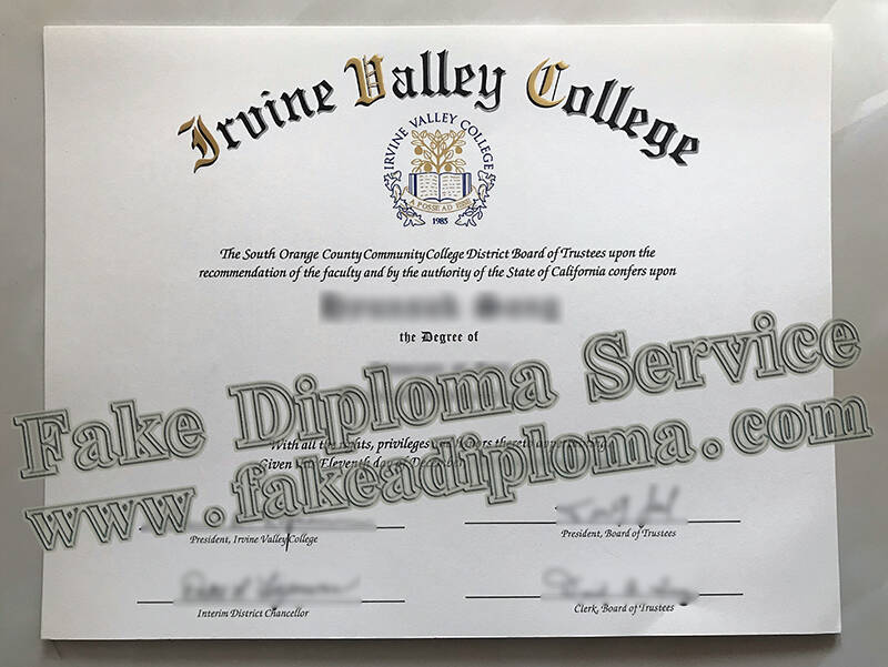Fake Irvine Valley College Degree