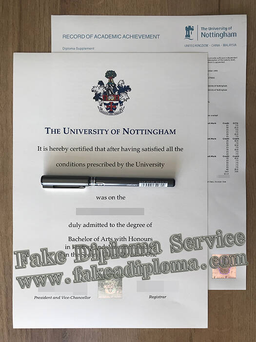 fake University of Nottingham degree, fake University of Nottingham diploma.