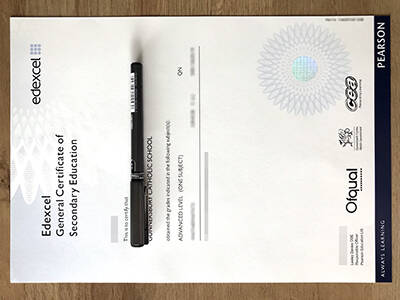 General Certificate of Secondary Education Fake Certificate