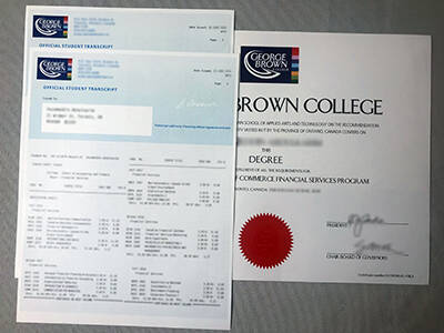 Your Perfect Combination of George Brown University Transcript and Degree Certificate