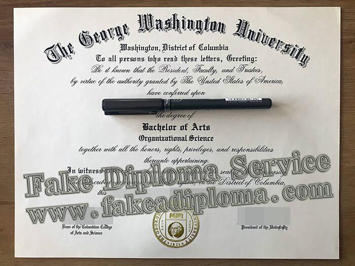 buy George Washington University fake diploma,