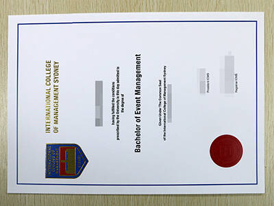 International College of Management Sydney Fake Diploma, Referred to As Fake ICMS Diploma